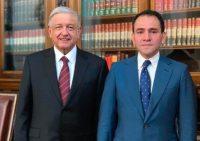 El presidente de México, Andrés Manuel López Obrador, presentó el 9 de julio de 2019 al nuevo secretario de Hacienda, Arturo Herrera. Credit Agence France-Presse — Getty Images