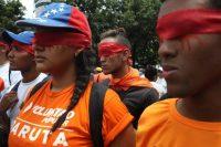 El 5 de julio de 2019 se llevó a cabo una marcha ciudadana para protestar contra la represión del gobierno de Nicolás Maduro. Credit Miguel Gutiérrez/EPA vía Shutterstock