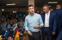 President Volodymyr Zelensky of Ukraine speaking to the media on Sunday.CreditCreditZoya Shu/Associated Press