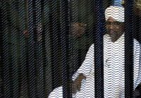 Sudan's former president, Omar Hassan al-Bashir, inside a cage at the courthouse where he is facing corruption charges, in Khartoum, Sudan, on Monday.CreditCreditMohamed Nureldin Abdallah/Reuters
