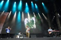 Mashrou' Leila performing in London, last year.CreditCreditBurak Cingi/Redferns, via Getty Images