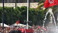 The funerary procession of late Tunisian president Beji Caid Essebsi on 27 July. Photo: Getty Images.
