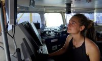 'What the Sea-Watch crew and I did states boldly what kind of future we want: a future of global equality, solidarity and justice' ... Carola Rackete. Photograph: Till M Egen/Sea-Watch handout/EPA