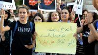 Concentración de protesta en Palestina tras la muerte de Israa Ghraeeb. Carolina Garcia Alianza por la Solidaridad