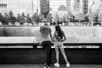 Visiting the 9/11 Memorial on Tuesday, the day before the 18th anniversary of the terrorist attacks.CreditCreditDamon Winter/The New York Times