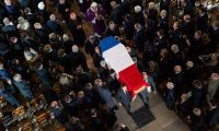 'I think what France was mourning this week was not Chirac the man, but rather presidential politics from a simpler era' ... Funeral of Jacques Chirac in Saint-Sulpice, Paris. Photograph: Eliot Blondet/SIPA/REX