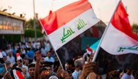 Demonstration against corruption in Basra in July. Photo: Getty Images.