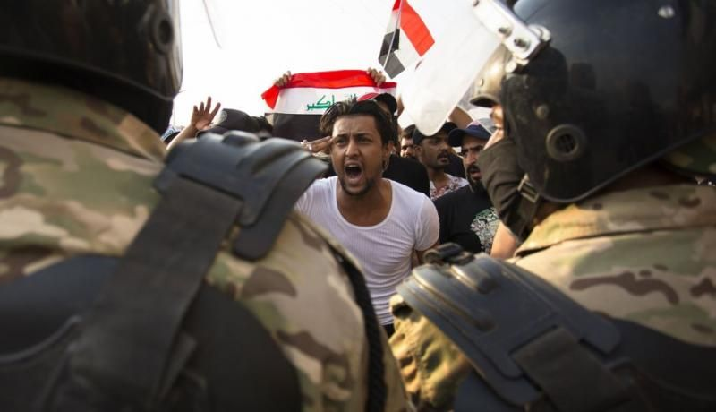 Protests in Basra on 2 October 2019. Photo: Getty Images.