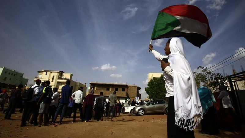Sudanese protesters take part in a rally in the capital Khartoum to mourn dozens of demonstrators killed last month in a brutal raid on a Khartoum sit-in, on July 13, 2019. AFP/ASHRAF SHAZLY