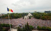 An anti-government rally in Chisinau, Moldova, in 2015. Photograph: Dumitru Doru/EPA