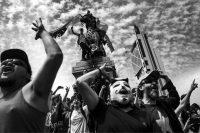 Manifestations dans les rues de la capitale chilienne, à Santiago, le 23 octobre. Photo Pablo Ernesto Piovano