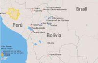 Figura 1. Puntos de llegada de cocaína a Bolivia desde Perú. Fuente: elaboración propia (3)