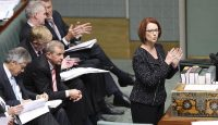 Julia Gillard speaking at the House of Representatives on 5 February 2013 in Canberra, Australia. Photo: Getty Images.