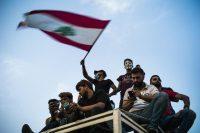 Manifestation à Beyrouth, au Liban, le 18 octobre. Photo Stéphane Lagoutte. Myop
