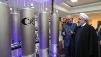 President Hassan Rouhani visits the exhibition of nuclear technology on April 9, 2019. Office of the Iranian President.