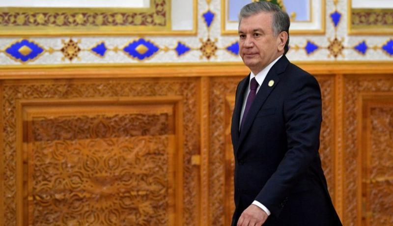 Shavkat Mirziyoyev in June. Photo: Getty Images.