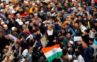 Demonstrators in Delhi, India, protested against the new citizenship law.Credit...Danish Siddiqui/Reuters