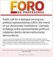 Dialogamos sobre Cataluña
