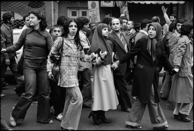 Protesters took to the streets during the Islamic revolution.