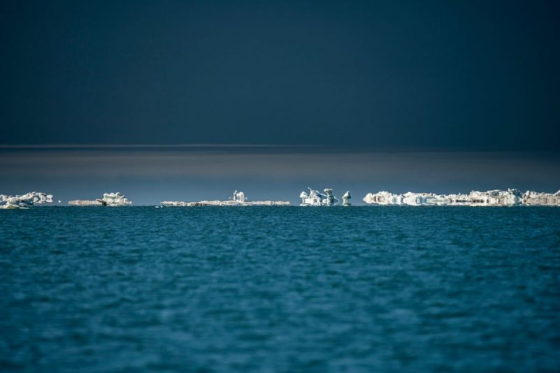 Sea ice in the Beaufort Sea off the coast of the Arctic National Wildlife Refuge in June. Credit Christopher Miller for The New York Times