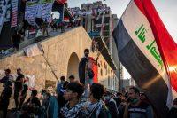 Miles de personas llenaron la plaza Tahrir en Bagdad durante las protestas contra el gobierno en octubre.Credit...Ivor Prickett para The New York Times