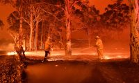 'The magnitude of these fires alone, apart from their human and environmental consequences, simply shows us that we now confront a new, more flammable world' Photograph: Saeed Khan/AFP via Getty Images