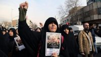 Iranians in Tehran protest against the killing of Iranian Revolutionary Guards' Quds Force commander Qassem Soleimani in a U.S. air strike in Iraq. 3 January 2020. AFP/Fatemeh Bahrami
