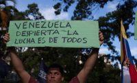 Un manifestante venezolano, el pasado 11 de enero en Caracas. Getty Images