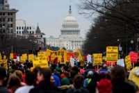 Demonstrators marched in Washington on Saturday to protest the United States' killing of Maj. Gen. Qassim Suleimani of Iran.Credit...Andrew Caballero-Reynolds/Agence France-Presse — Getty Images