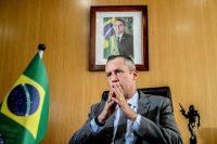 Roberto Alvim durante una entrevista en la mañana en la que fue removido de su cargoCredit...Gabriela Bilo/Agencia Estado vía Associated Press