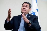 Juan Orlando Hernández, presidente de Honduras, en agosto de 2019Credit...Michael Reynolds/EPA vía Shutterstock