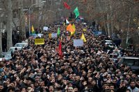 A demonstration against the killing of General Suleimani in Tehran on Saturday.Credit...Ebrahim Noroozi/Associated Press