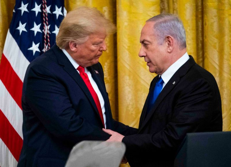 President Donald Trump delivered joint remarks with the Prime Minister Benjamin Netanyahu of Israel in the White House on Tuesday. Credit Doug Mills/The New York Times