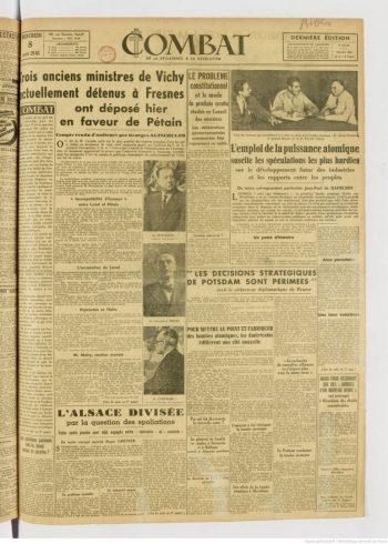 primera página de Combat del 8 de agosto de 1845. Bibliothèque nationale de France - BNF Gallica