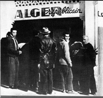 Fachada de la redacción de Alger Republicain en 1938.
