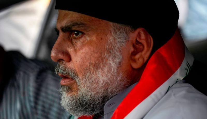 Muqtada al-Sadr in Najaf in October. Photo: Getty Images.