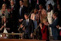 El líder opositor de Venezuela, Juan Guaidó, estuvo presente en el discurso del Estado de la Unión de Donald Trump, el 4 de febrero de 2020.Credit...Anna Moneymaker/The New York Times