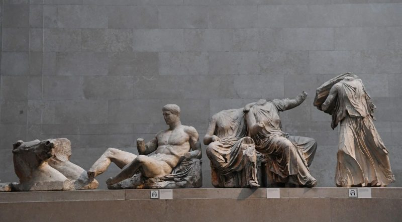 The Parthenon marbles, seen Wednesday at the British Museum in London. (Facundo Arrizabalaga/EPA-EFE/REX/Shutterstock)