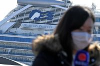 The inadequacy of the government's response was exposed by the unmitigated epidemiological and public relations disaster that was the saga of the Diamond Princess cruise ship, shown here in Yokohama on Feb. 21.Credit...Philip Fong/Agence France-Presse — Getty Images