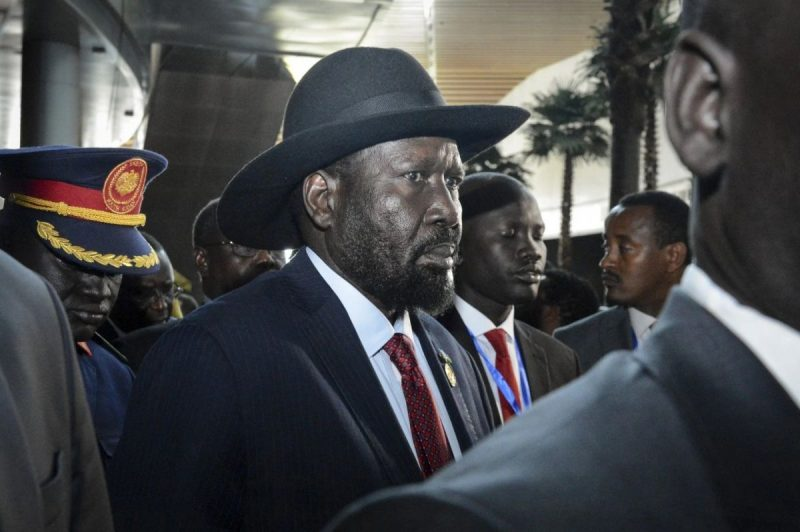 South Sudanese President Salva Kiir arrives for the opening session Feb. 9 of the 33rd African Union Summit in Addis Ababa, Ethiopia. (AP)
