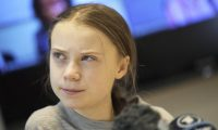 Greta Thunberg at a Fridays For Future press conference, Stockholm. Photograph: IBL/Rex/Shutterstock