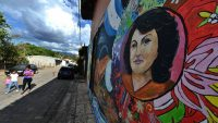 Mural dedicado a Berta Cáceres en Tegucigalpa, Honduras. ORLANDO SIERRA AFP