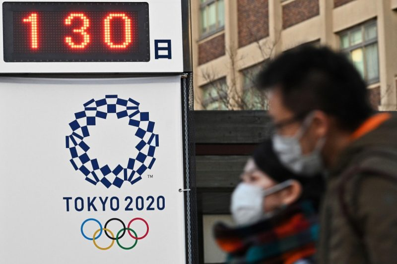 A board in Yokohama on Monday showed the number of days until the Tokyo 2020 Olympic Games. Credit Philip Fong/Agence France-Presse — Getty Images