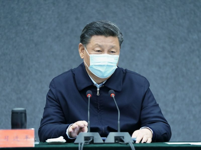 President Xi Jinping of China in Beijing on Monday. As propagandists were preparing a book praising his handling of the epidemic, two well-known critics of China's party-state published searing analyses of what the outbreak has really exposed. Credit Yan Yan/Xinhua, via Getty Images