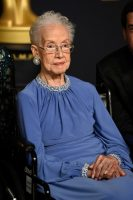 "Katherine Johnson, the NASA mathematician and inspiration for the film, ""Hidden Figures,"" at the 2017 Oscars at the Dolby Theatre in Los Angeles.Credit...Jordan Strauss/Invision, via Associated Press"