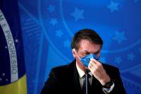 El presidente de Brasil, Jair Bolsonaro, durante una conferencia en Brasilia el 20 de marzo Credit... Ueslei Marcelino/Reuters