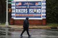 Spencer Platt/Getty Images The entrance to Rikers Island jail complex, New York City, March 31, 2017