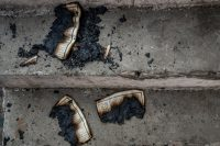 Pages of a Quran burned by rioters in a mosque in northeast Delhi on Feb. 26.Credit...Atul Loke for The New York Times