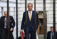 First Secretary of State Dominic Raab of Britain. Credit... Stefan Rousseau/Press Association, via Associated Press