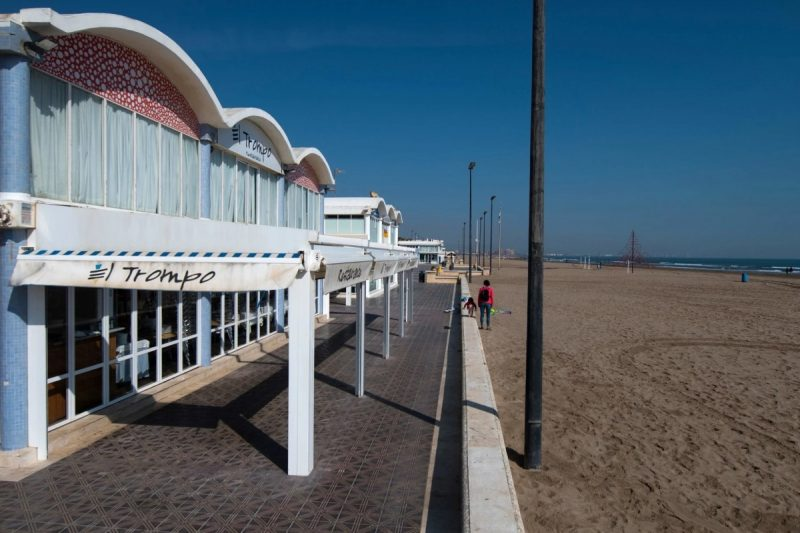 The empty seaside promenade in Valencia, the region where Spain's first coronavirus death was recorded.Credit Jose Jordan/Agence France-Presse — Getty Images